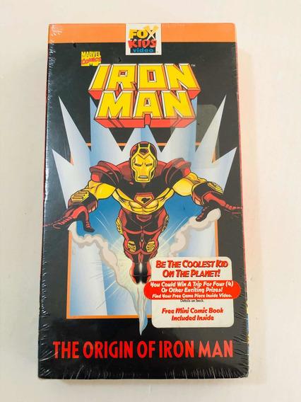 Fita Antiga Vhs Lacrada Marvel Iron Man - Homem De Ferro