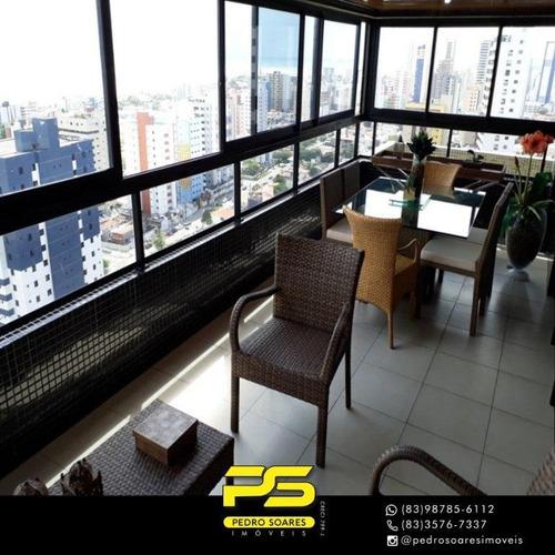 Apartamento Com 4 Dormitórios À Venda, 234 M² Por R$ 1.350.000 - Manaíra - João Pessoa/pb - Ap3495