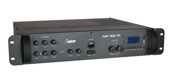 Amplificador Potência Nca Pwm 1600 Fm Bluetooth 400w 4 Ohms