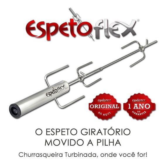 Espeto Giratório Movido A Pilha,espetoflex Espeto Flex Inox