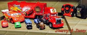 Caminhão Mack +macquen Controle Remoto +6 Carrinhos De Ferro