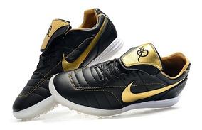 Chuteira Society Nike Tiempo Legend 7 R10 Elite Black+goden: