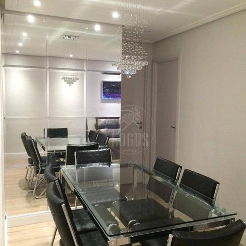 Imagem 1 de 19 de Apartamento De 66m² Composto Por 2 Dormitórios Sendo 1 Suíte Com Closet, À Venda R$ 415.000,00 - Bairro Santa Terezinha - Sbc/sp - Ap1384