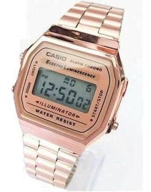 Reloj Casio Rosa Brillante A168