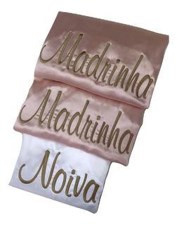 Robe/roupão Cetim Bordado Noiva, Debutante, Madrinha