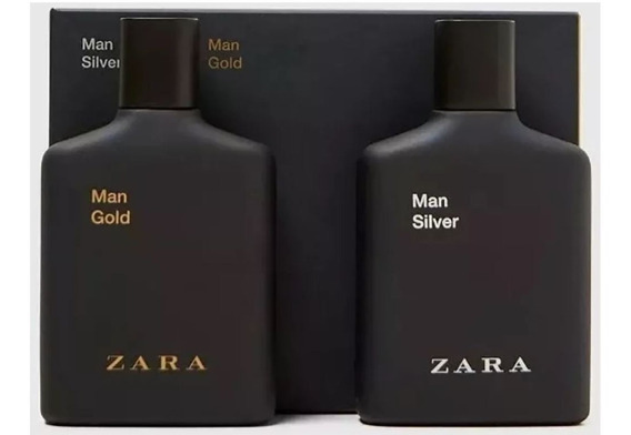 Kit C/2 Perfumes Zara Man Gold + Man Silver 100ml Cada.