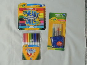 Kit 1 Crayola Canetinha Heads´tails-gliter Restick -supertip
