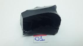 Pedra Bruta De Obsidiana Negra Natural (34g)