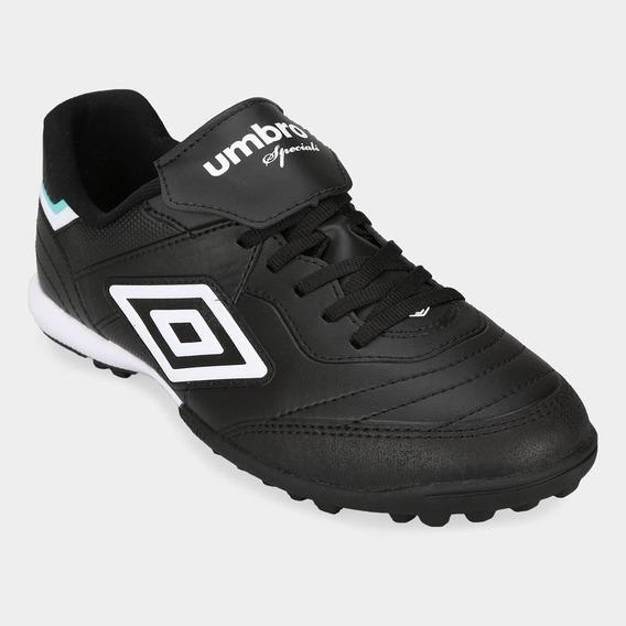 Botin Papi Futbol Umbro Speciali 3 Club Negro Blanco