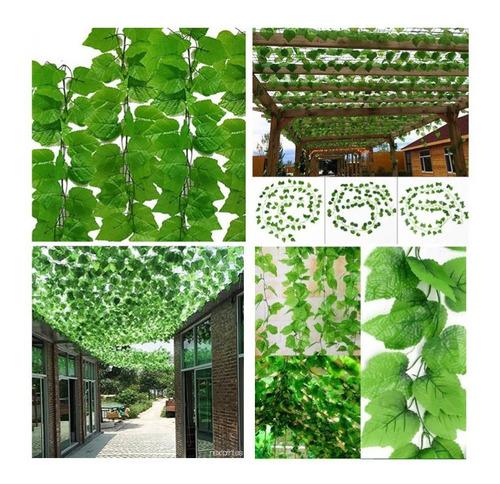 Imagen 1 de 9 de Enredadera Hiedra Artificial Pack Jardin Vertical Muro