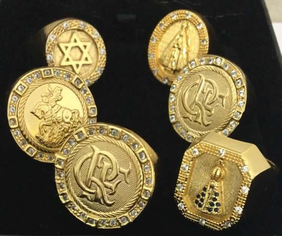 Dedeiras / Anéis Banhados A Ouro 18k Pedras Cravejadas Luxo