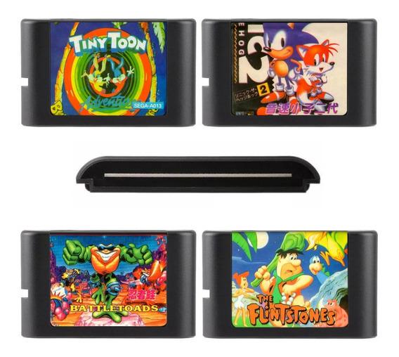 Cartuchos Game Megadrive 4 Jogos Frete Grátis Sonic Battlest