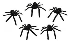 Kit 20 Aranhas De Plástico Brincadeira Divertida Susto Preta
