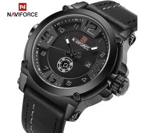 Relógio Masculino Naviforce A Prova D´água Pulseira Couro