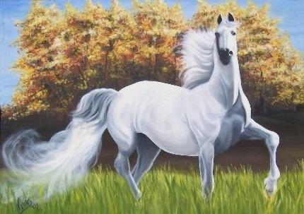 Cuadro Al Óleo - Original (caballo) ¡0ferta! 50% Off