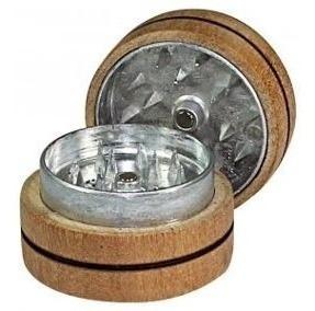 Dichavador Madeira Triturador Confeccionado Em Metal + Seda