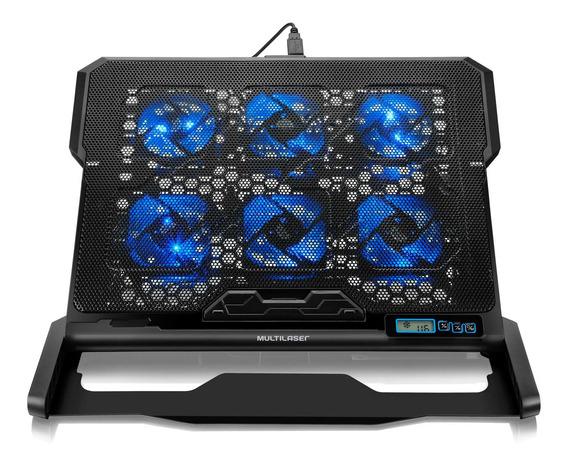 Power Cooler Gamer Notebook 6 Fans Led Multilaser Ac282 + Nf