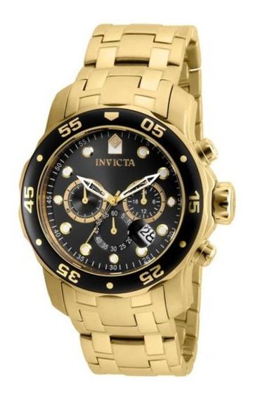 Relógio Invicta Pro Diver 80064 Banhado Ouro 18k - Original