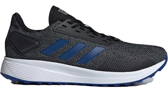 Tenis adidas Duramo 9 Negro Azul Correr Deportivo Original
