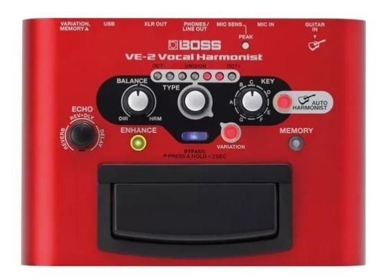 Processador Vocal Boss Ve 2 Vocal Harmonist Ve2 + Fonte