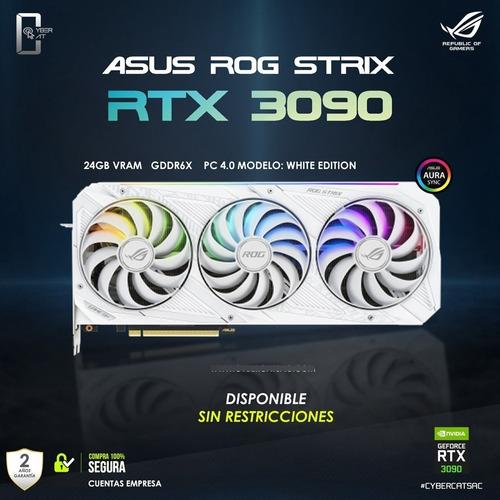 Imagen 1 de 4 de Tarjeta De Video Nvidia Rtx 3090 Asus Rog Strix 24gb Gddr6x