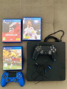 Playstation4, 2 Controles, 3 Jogos E 1 Fone De Ouvido
