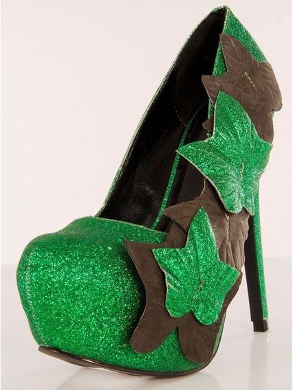 Zapatos De Hiedra Venenosa Poison Ivy Verdes Para Damas 2