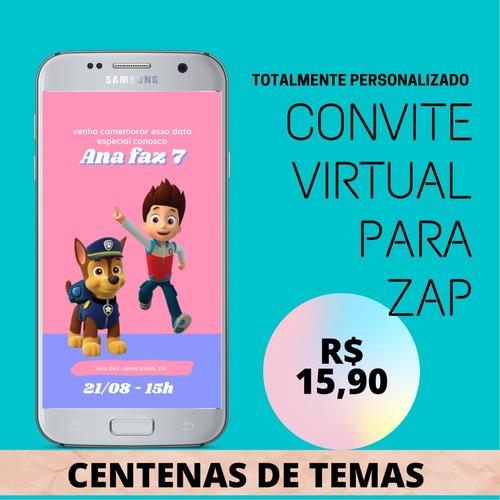 Imagem 1 de 10 de Convite Virtual Festa Aniversário Casamento Chá Revelação