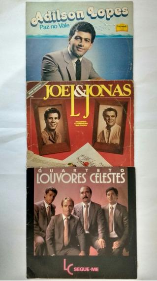 3 Lps Adilson Lopes Joel Jonas Louvores Celeste Frete Grátis