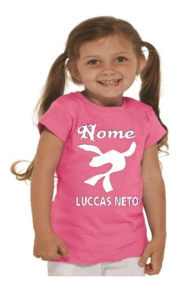 2 Camisetas Personalizada Infantil Luccas Neto Menina