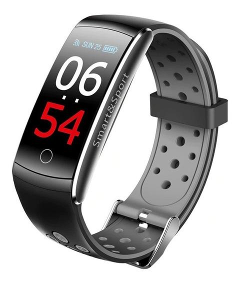 Pulseira Smartband Relógio Q8 Pressão Arterial Cardíaco