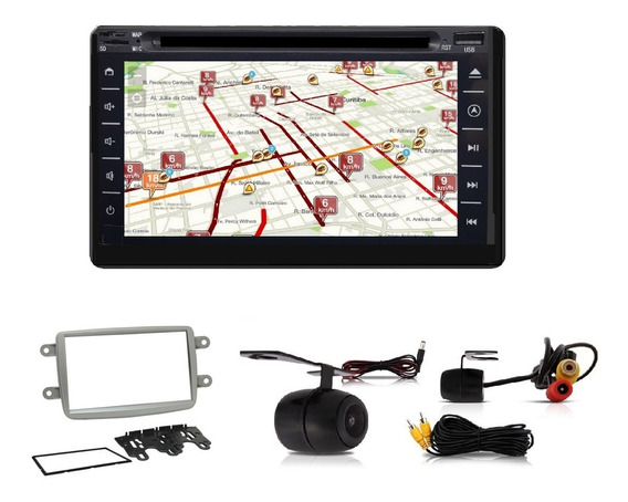 Central Multimidia Tv Gps Bt Kwid Duster +moldura+câm+brinde