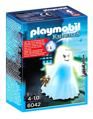 Imagen 1 de 6 de Playmobil Fantasma Con Luz Original Knigths Intek 6042