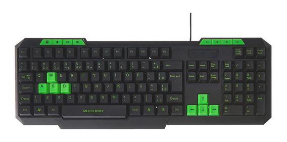 Teclado Gamer Multimídia Barato Multilaser Tc243, Abnt2, Usb