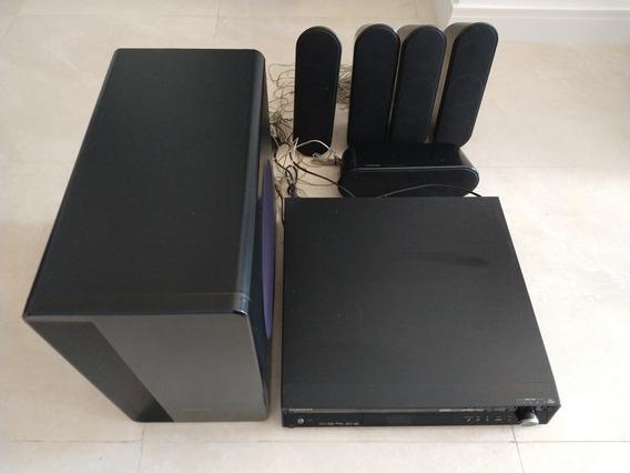 Home Theater Samsung Ht-x70t 1200w Rms Carrossel 5 Dvds Rádio Controle Remoto Caixa Acústica Som Ambiente