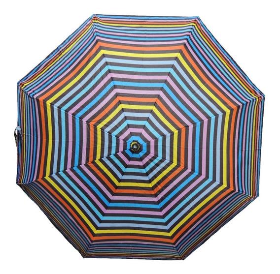 Paraguas Automatico Pierre Cardin Corto Mujer Estampado Dama Antiviento Bolso Cartera