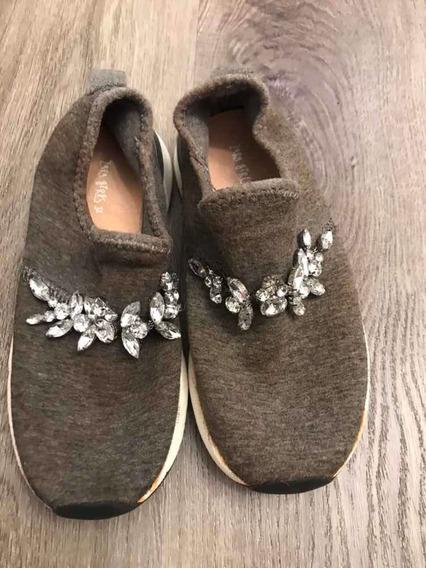 Zapatillas Brillos Zara Girls 32 Impecable!!
