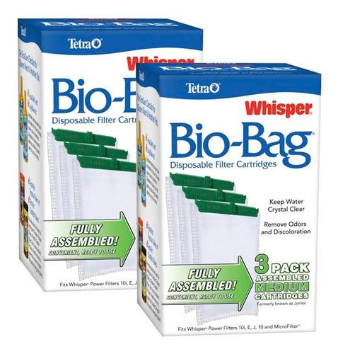 Cartucho Tetra Whisper Bio-bag Médio (combo 2 Cx Com 3 Un.)