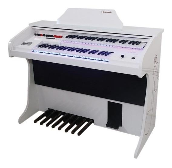 Órgão Eletrônico Harmonia Hs Kids Branco - Dia Das Crianças