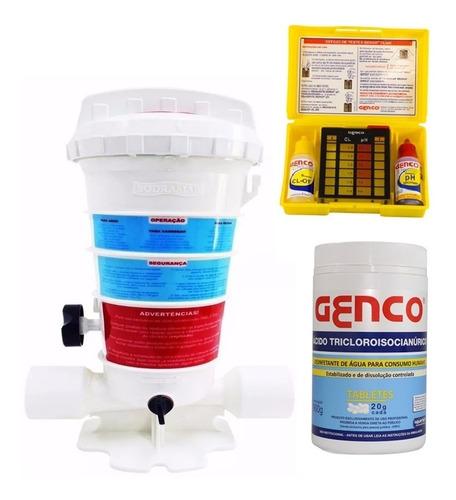 Imagem 1 de 6 de Dosador Automático Com Kit Teste Ph Da Caixa D'água