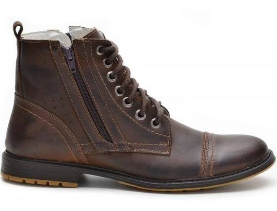 Sapato Botina Casual Social Masculino Ziper Bota Franca 651