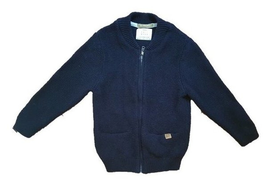 Cardigans Saquito Pullover Zara Algodón 3-4 Años Azul O Gris Claro Impecables