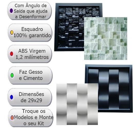 2 Formas De Gesso 3d Cimentício Fdg Abs 1,2mm Vários Modelos