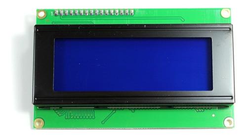 Imagen 1 de 4 de Lcd 20x4 Fondo Azul Con Interfaz I2c, Arduino, Pic, Raspberr