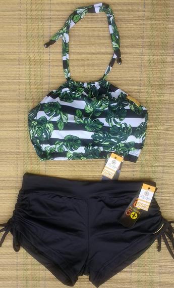 Conjunto Bikini Cropped Sunkini Tal Mãe Tal Filho