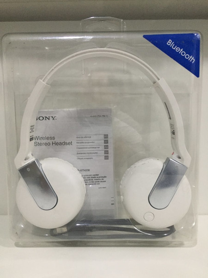 Fone Wirelles Stereo Headset Bluetooth Sony Dr-btn200