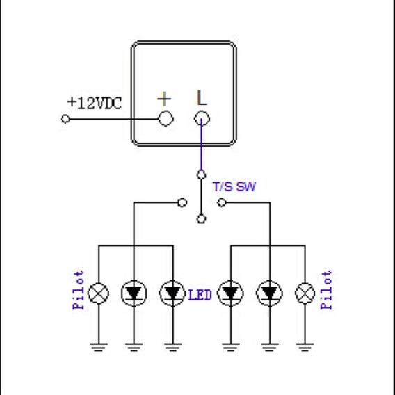 Flasher automotriz diagrama