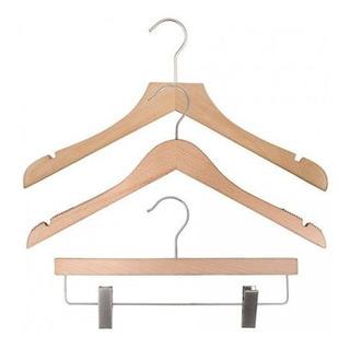 Nahanco 20617husk Wood Clothes Hanger Kit - Low Gloss Beech