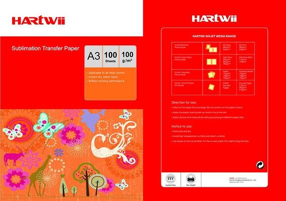 Papel De Sublimación Profesional Hartwii A3+ Más Grande 100h