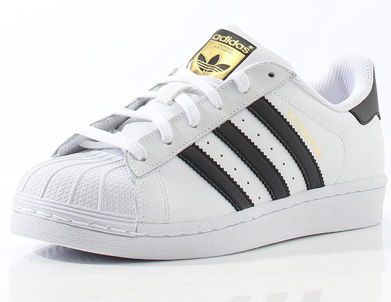 Tenis adidas Superstar Clasico Piel#25.5 Al 27.5 Cm Buen Fin
